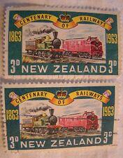 New Zealand Stamp 1963 Scott 362 A144  Railways Set of 2