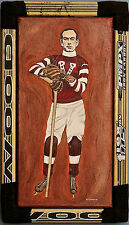 Cyclone Taylor Vancouver Millionaires Original Hockey Painting Jennifer Ettinger