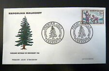MADAGASCAR  419  PREMIER JOUR FDC     REBOISEMENT , ARBRE       20F     1966