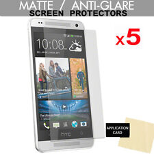 5 Pack ANTI-GLARE MATTE LCD Screen Protector Guards for HTC ONE MINI