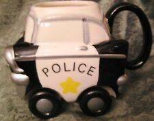 Police Car Coffee Mug Wheelees Rolling Cup wheels  Applause 27118 Rare 1989