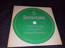 Lester Young/Coleman Hawkins--Classic Tenors LP Jazz 1971 FLYING DUTCHMAN
