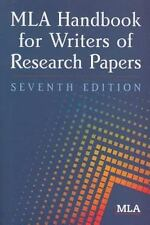 MLA Handbook for Writers of Research Papers by Joseph Gibaldi and Modern...