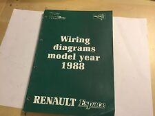 RENAULT ESPACE MPV ELECTRICAL WIRING CIRCUIT & HARNESS DIAGRAMS OEM MANUAL 1988