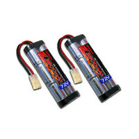 2pcs Tenergy 7.2V 6S 3800mAh High Capacity NiMH Battery Pack RC Cars w/ Tamiya