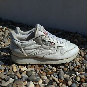 Summer Style White Leather Reebok Classic Trainers UK 6.5 Shoe Sneakers