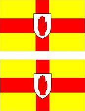 set of 2x sticker vinyl car bumper decal outdoor flag ulster Ireland irish