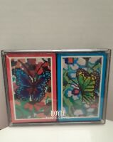 Vintage BUTTERFLIES Playing Cards by Hoyle New Unused in Sealed Original Box