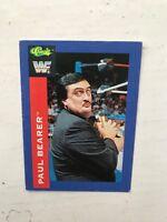1991 Wwf Classique Échange Carte Séries - Paul Porteur #93 Hasbro Wwe Wrestling