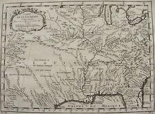 CARTE DE LA LOUISIANE ET PAYS VOISINS, ETATS UNIS, GOLFE MEXIQUE, ORIGINALE 1757