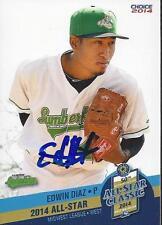Edwin Diaz 2014 Midwest League All Star Clinton Lumberkings Signed Card