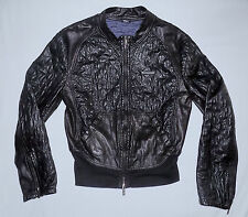 EMPORIO ARMANI -100% LAMBSKIN Quilted Winter Jacket-Size 38/Medium-Black-Nice.