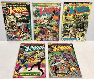 X-MEN #94,95,96,97,98 KEY RUN! (5-Issue comic LOT! Wolverine!) 1975 Marvel