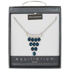 Collar de bisutería color principal azul de cristal