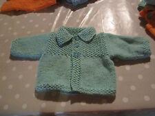 gilet/veste tricoté mains compatible corolle/berenguer 48 50 52 cm