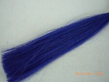 Horse Hair, Natural, Dyed, 1 Ounce, 13-14 Inches, Blue