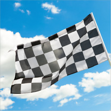 Giant Black & White Check Chequered SKA F1 Flag