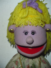 Female puppet yellow yarn hair wig stage puppet professional Childrens Church
