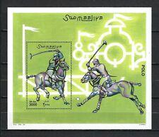 Somalia 2001 Mi#923 Block 85  Polo  MNH Souvenir Sheet $14.95