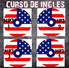 4 CD MP3 Curso De Ingles Para su carro o Computadora.(English Course).Solo Audio