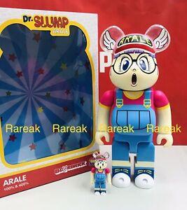 Medicom 400% + 100% Bearbrick Dr Slump Arale Be@rbrick HK Exclusive ARALE