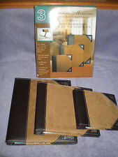 NIB - Precious Memories Deluxe Scrapbook Faux Suede - 3 Piece Set