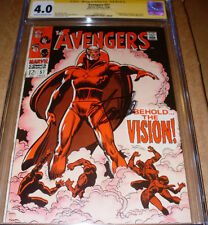 Avengers 57 CGC SS SIGNED Stan Lee 1st Vision Marvel 1968 Ultron Black Widow app