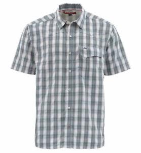 Simms Big Sky SS Shirt - Storm Plaid - Medium - Sale & Free US Shipping