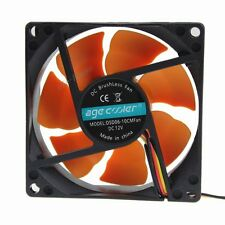 80mm Orange Wing 12V 3Pin 4Pin Quite Brushless Computer Cooler Cooling IDE Fan