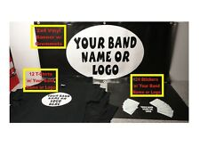 Custom Printed Band Promo Package T-Shirts Banner Stickers - Promote Your Band