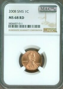2008 LINCOLN MEMORIAL CENT Penny NGC MS68 SMS RD RED MAC Quality ✔️