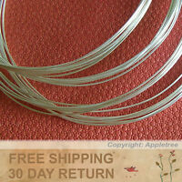 10FT Solid Sterling Silver Wire 24ga Round - 24 gauge - Half Hard-Top Quality