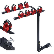 """4 Bicycle Bike Rack Carrier 1-1.4"""" & 2"""" Bicycle Hitch Mount Carrier Car Truck"""