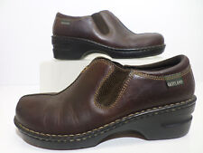 Eastland Brown Mules Slip On Leather Shoes Women's Size 9 1/2 M