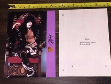 KISS Paul Stanley 1978 Army Kit Promo Stand Up Post Card - Gene Simmons Ace