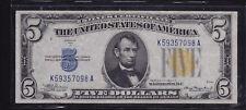1934A F- 2307 $5 N AFRICA SILVER CERTIFICATE XF/ AU