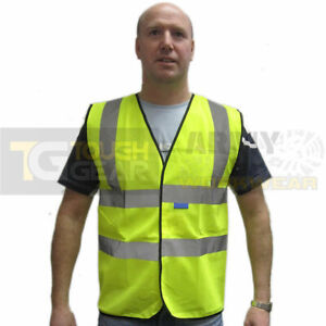 Hi Viz Vis Reflect Safety Waistcoat Vest Visibility Construction, Road, Trade