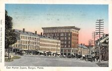 Bangor Maine~Carriage Works~Clayton~Bldg w/Cornices~Copper Window~Postcard 1907