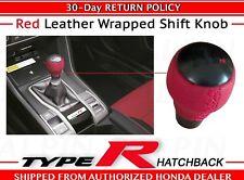 OEM Honda Civic Type R 6 Speed RED LEATHER Wrapped Shift Knob    (08U92-TEA-110)