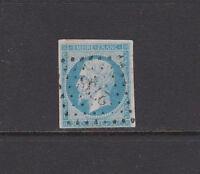 FRANCE 1853 STAMPS Napoleon 20c. Blue Greenish type I Used 16a (Mi.13-I-f)