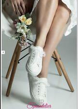 Converse Sposa Bianche Scarpe Da Ginnastica In Pizzo Sneakers Nozze Matrimonio