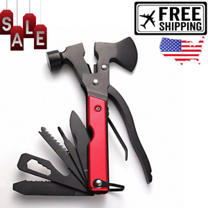 16 in 1 Multifunctional Axe Folding Knife Hammer Outdoor Camping Tactical Tool