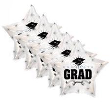 "5 pc - 18"" White Congrats Grad Star Balloon Party Decoration Congratulations"