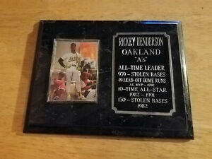 Rickey Henderson Oakland A's  Man of Steal Placard