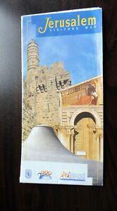 Jerusalem Vistors Map - Folded - Israel Ministry of Tourism  published 2000