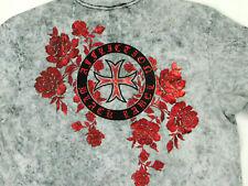 Affliction Mens XL Black Label Strong Man Short Sleeve Shirt NWT