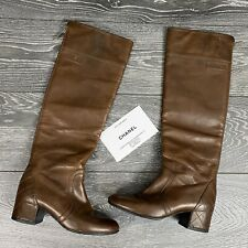 CHANEL 100% Authentic 🌈 1.800$ Cult Brown Boots 36EU/ 6US Leather