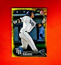 2016 BOWMAN YELLOW RETAIL PAPER PARALLE JAKE BAUERS TAMPA BAY RAYS  #BP131 nrmt