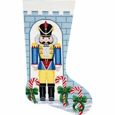 New listing Alice Peterson Deluxe Large Needlepoint Stocking Kit - Nutcracker Soldier