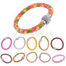 Crystal Leather Cuff Fashion Bracelets